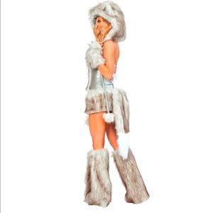 J Valentine Wolf costume leg warmers